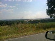 Pohled na požár od Chrastovic