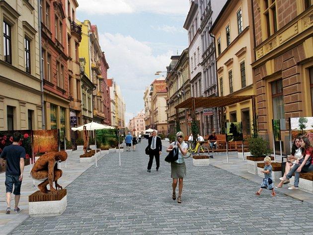 Z Riegrovy ulice v historickém jádru Plzně se stane pěší zóna