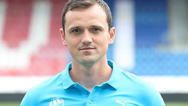 Trenér Viktorie U17 Ondřej Šiml.