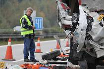 Nehoda na 106. kilometru dálnice D5 ve směru na Rozvadov
