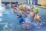 Otevření nového dětského výukového bazénu Slovany. Na snímku děti z 21. ZŠ v Plzni.
