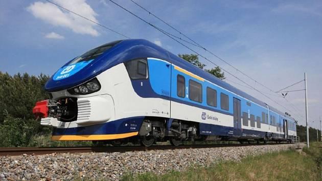Motorový vlak Českých drah RegioShark