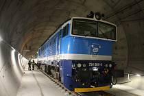 Cvičení záchranných složek v železničním tunelu u Ejpovic