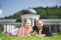 č. 114: Štěpánka a Tomáš Formankovi, Ch. Huť (Svatba: 4. července 2015)