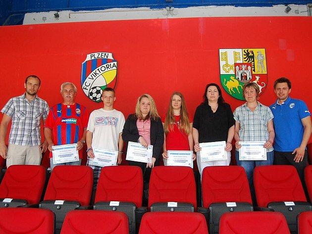 Výherci permanentek si prohlédli také kabinu Viktorie Plzeň a navštívili fanshop