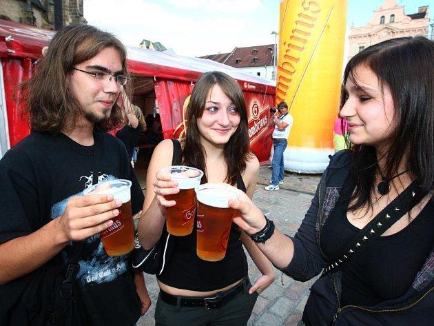 Gambrinus den na náměstí Republiky v Plzni