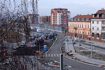 Křižovatka ulic Klatovská, U Borského parku a Kaplířova v Plzni