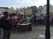 Na náměstí Republiky v Plzni se protestovalo proti Andreji Babišovi.