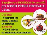 Zapojte se s DENÍKEM do soutěží při BOSCH FRESH FESTIVALU v Plzni