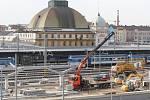 Hlavní nádraží - stavba autobusového nádraží