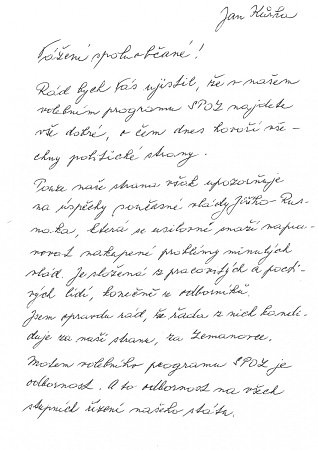 Rukopis Jana Kůrky