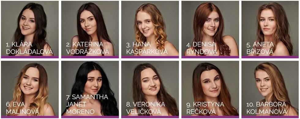 Semifinalistky Miss OK Plzeňského kraje