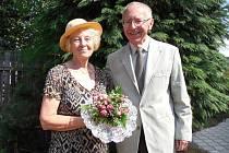 č. 106: Daniela a Zdeněk Smolkovi, Plzeň. Svatba: 5. srpna 1965, 5. srpna 2015 (zlatá svatba)
