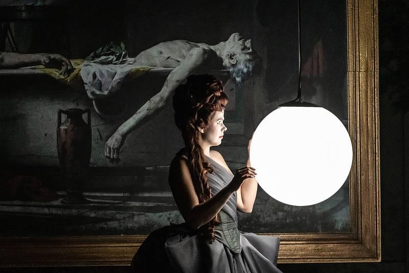 Lucie Kaňková během generální zkoušky opery Korunovace Poppey v Divadle J. K. Tyla v Plzni.
