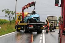 Série nehod, při kterých ve středu ráno u Stoda nabouralo celkem sedm osobních a dvě nákladní auta, značně zkomplikovala dopravu