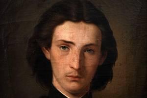 Autoportrét Gottfrieda Lindauera. Tento obraz je ve vlastnictví Západočeského muzea v Plzni.