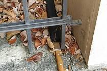 Nález mačety u Velkého divadla v Plzni