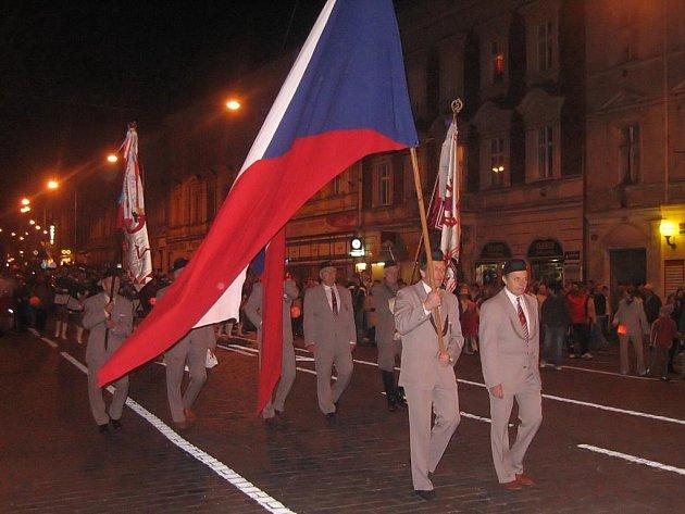 """Tradiční """"průvod světel"""" vyjde od náměstí T. G. Masaryka zhruba před 18. hodinou"""