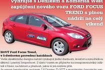 Hledejte v novinách kupon a vyhrajte zapůjčení Fordu Focus Trend