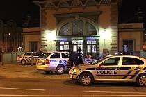 Policejní zásah u nádraží Plzeň-Jižní předměstí