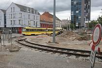 Rekonstrukce tramvajové trati v prostoru U Zvonu