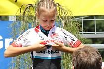 Devítiletá  Simona Spěšná si obléká dres krajské šampionky