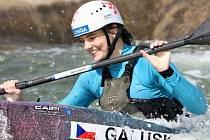 Důvod k úsměvu měla Antonie Galušková na mistrovství Evropy v Praze.