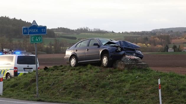 Čtvrteční ranní nehoda u Nepomuku.