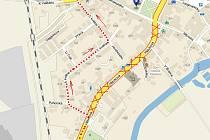Ve směru od Klatov odbočí řidiči u hřbitova do ulice 5. května, odkud se dostanou do Husovy. Pak už budou moci pokračovat na Plzeň