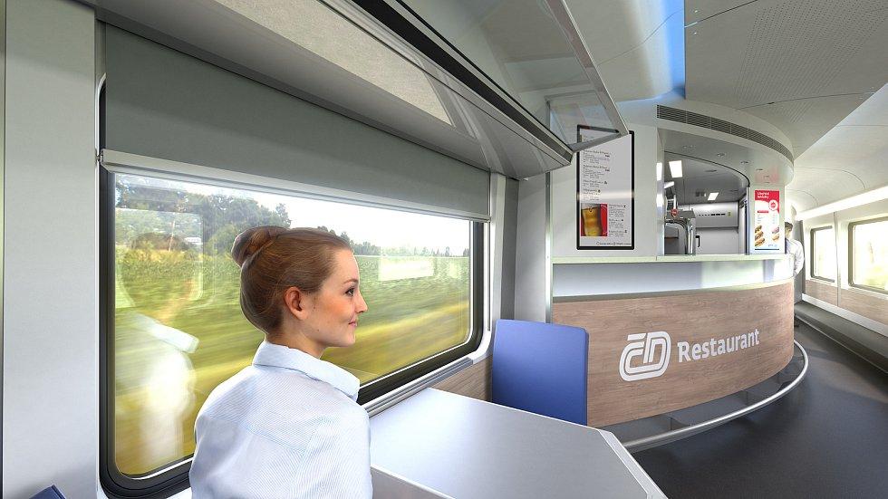 České dráhy chtějí supermoderní vozy. Bude v nich wifi i dětské kino. S konsorciem Siemens Mobility-Škoda Transporation tak zástupci ČD podepsali rámcovou smlouvu na dodávku 180 supermoderních expresních vozů