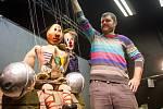 Klaun Kiki  s hercem Petrem Vydaraným.