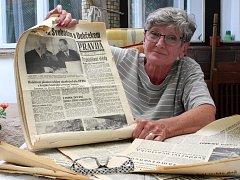 Marta Dolejšová dcera novináře Miroslava Štiky, který se v srpnu 1968 podílel na vydávání ilegálního vydávání novinového deníku Pravda.