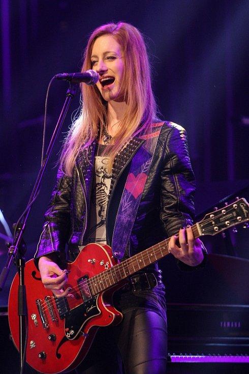 Sabina Křováková vystoupila společně s kapelou