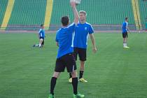 Trénink fotbalistů Viktorie Plzeň v Sarajevu