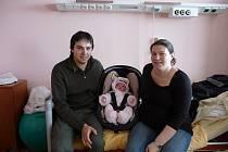 Gabriela (4,36 kg, 53 cm) přišla na svět 20. února v 5:23 v plzeňské fakultní nemocnici. Z narození své prvorozené dcery se radují rodiče Gabriela a Pavel Nečasovi z Broumova