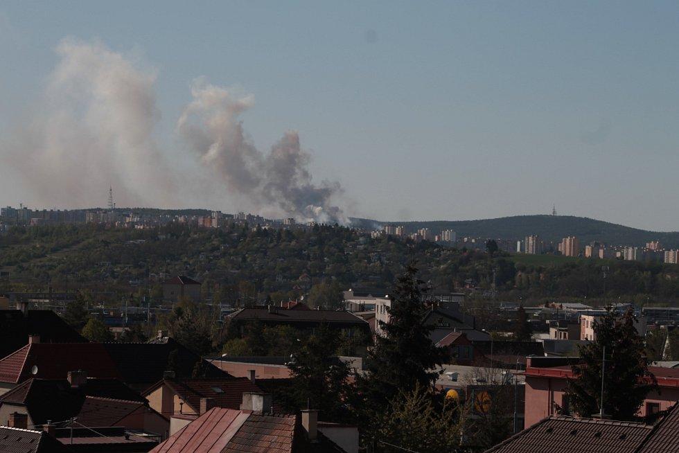 Požár lesa u Chotíkova