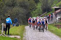Skupinka jezdců belgické stáje, která měla pro tento závod speciální název Elegent Quick-Step. V týmu jel i Zdeněk Štybar, který už se teď připravuje na start Vuelty.
