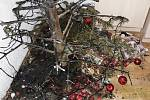 Požár vánočního stromku v Rabštejnské ulici v Plzni