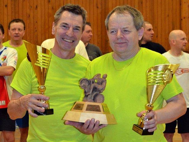 Turnaj pamětníků a veteránů plzeňské kolové v sobotu ovládli Pavel Kydlíček (vlevo) a Milan Pelc.