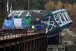 Rekonstrukce železničního mostu přes vodní dílo Hracholusky, na trati Pňovany - Bezdružice.