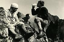 Na snímku ze šedesátých let 20. století s názvem Tatry jsou klatovští horolezci (zleva Jaroslav Němec, Václav Sýkora a  František Stupka – autor fotografie je bohužel neznámý).