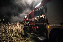 Cvičení hasičů u Nýřan.