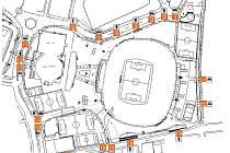Pro fanoušky plzeňské Viktorie jsou ve středu večer připraveny tři vchody - 18, 19 a 21. Čeští příznivci by měli využít především vchod číslo 21, který bude otevřen od 18 do 19 hodin. Ti, co to nestačí, musí od 19:15 hodin procházet vchodem 18 nebo 19