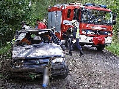 Řidiči felicie už doktoři nedokázali pomoct. Příčinu tragické nehody, která se stala v neděli odpoledne na komunikaci u Mladého Smolivce na jižním Plzeňsku, řeší dopravní policisté
