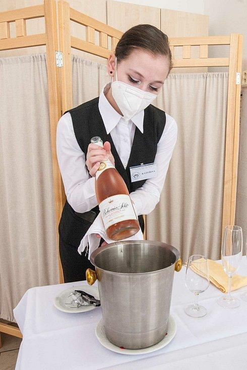 Odborný výcvik na Hotelové škole v Plzni.