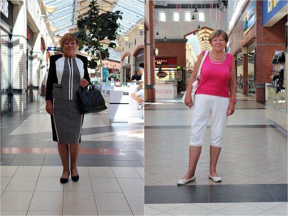 Bílé ťapky jsou sice pohodlné a na léto praktické, ke kostýmku se ale hodí spíše lodičky.