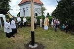 Vysvěcení výročního kříže.