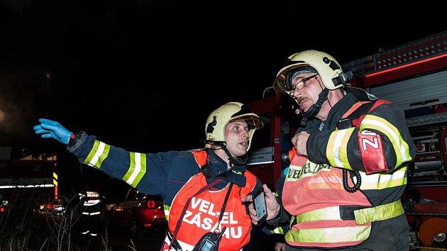Cvičení hasičů u Nýřan
