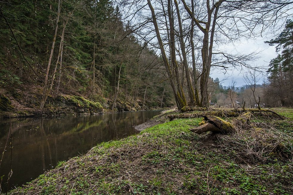Údolí řeky Střely poblíž chatařské oblasti.