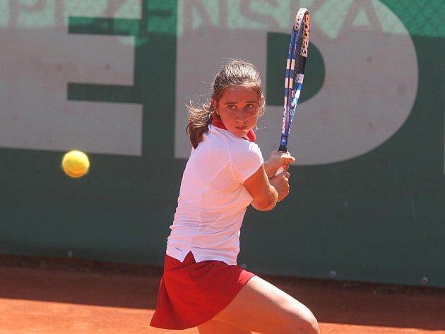 S turnajem ve dvouhře se včera v Plzni rozloučila také španělská tenistka Sara Sorribesová Rormová (na snímku), která podlehla Ukrajince Viktorii Lushkovové 1:6, 6:4, 4:6